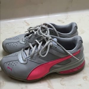 Puma Shoes - Gray and Pink Puma Sneakers